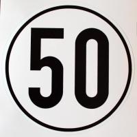 Geschwindigkeits-Schild Aluminium 50 km/h
