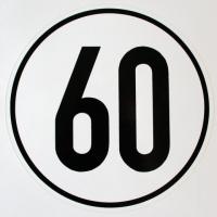 Geschwindigkeits-Schild Aluminium 60 km/h