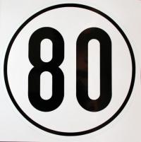Geschwindigkeits-Schild Aluminium 80 km/h