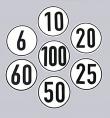 Folienaufkleber (verschiedene km/h zur Auswahl)
