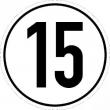Geschwindigkeits-Schild Aluminium 15 km/h